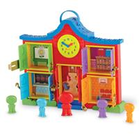 Escuela con pestillos Latch & Learn School House™ de Learning Resources
