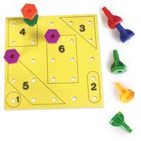 Set de actividades para jugar con clavijas de los colores del arcoíris de Learning Resources