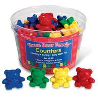 Set de figuras de la familia de los osos Three Bear Family de Learning Resources - 4 colores