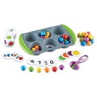 Set de actividades de matemáticas Mini Muffin Match Up de Learning Resources.