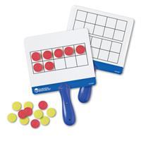 Tablas de respuestas magnéticas con cuadrículas de diez casillas de Learning Resources
