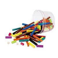 Set para grupos pequeños de regletas de Cuisenaire® de plástico (set de 155)